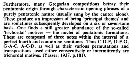 Example 1 Research, Part 5: Pentatonicism in the Gregorian Chant